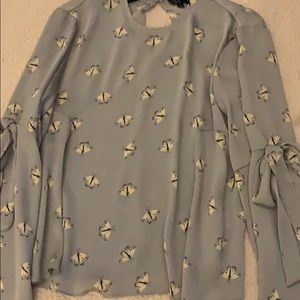 Topshop. Bell shaped sleeve Top.